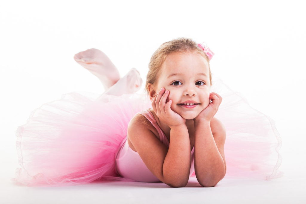 cute young little girl in ballerina costume at A Preschool & daycare Serving Armona, CA